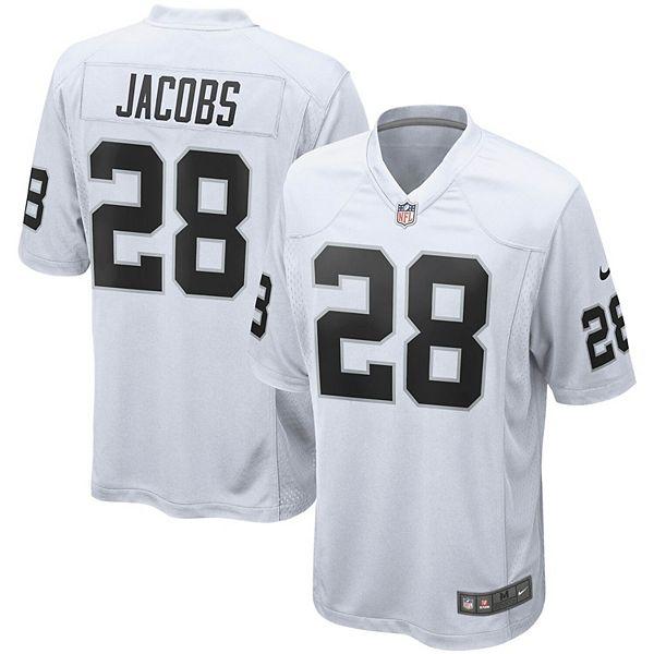 Men's Nike Josh Jacobs White Oakland Raiders Game Jersey