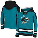 Youth Teal/Black San Jose Sharks Ageless Lace-Up Pullover Hoodie