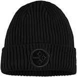 Youth New Era Black Pittsburgh Steelers Core Classic Black on Black Cuffed Knit Hat