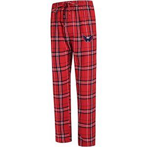 Men's Concepts Sport Red/Navy Washington Capitals Hillstone Flannel Pants