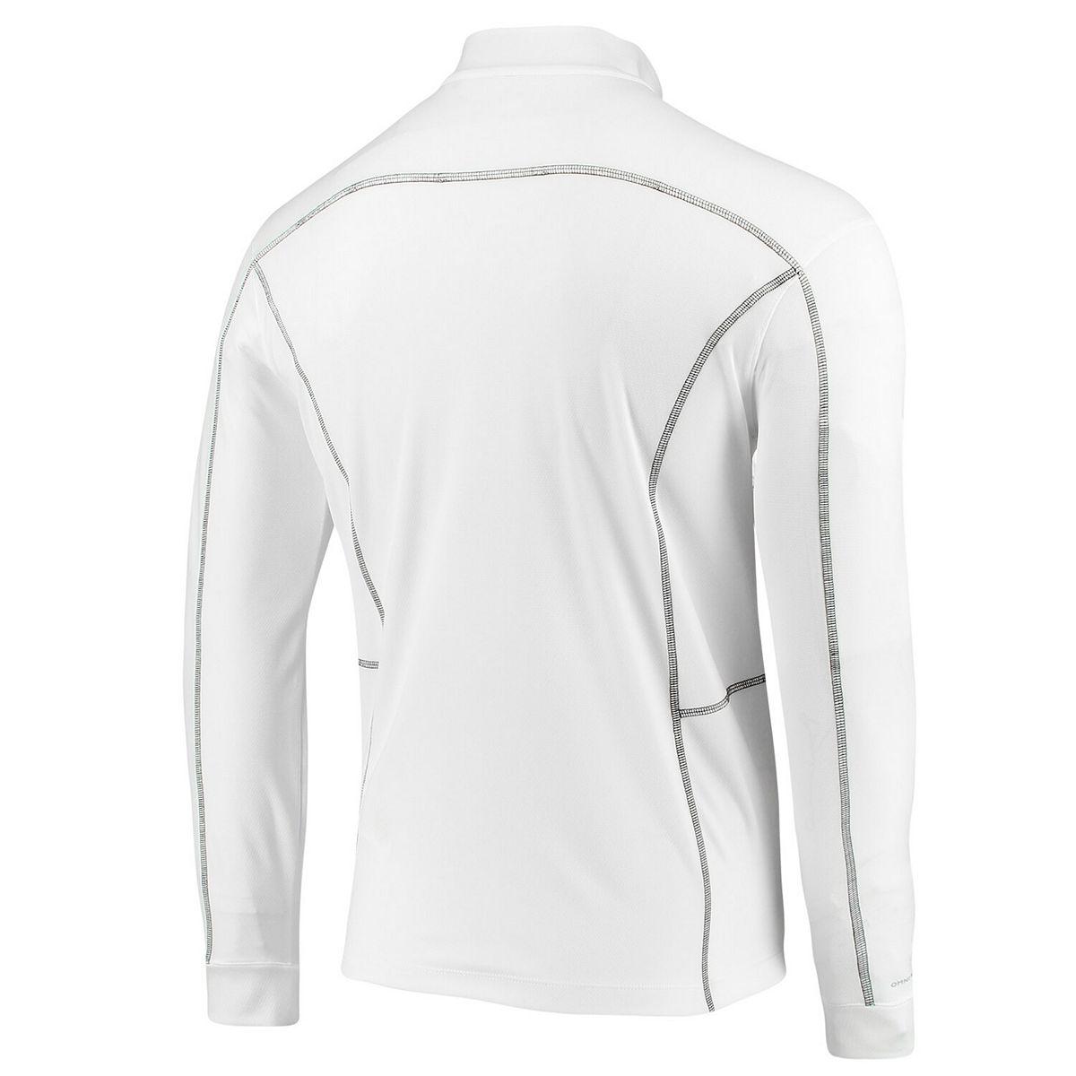 Men's Columbia White Houston Rockets Omni-Wick Shotgun Quarter-Zip Pullover Jacket gN6UF