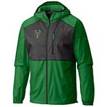 Men's Columbia Green Milwaukee Bucks Flash Forward Full-Zip Windbreaker Jacket