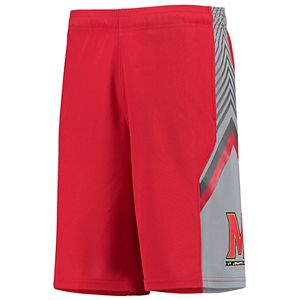 Youth Under Armour Red/Graphite Maryland Terrapins Space The Floor Shorts