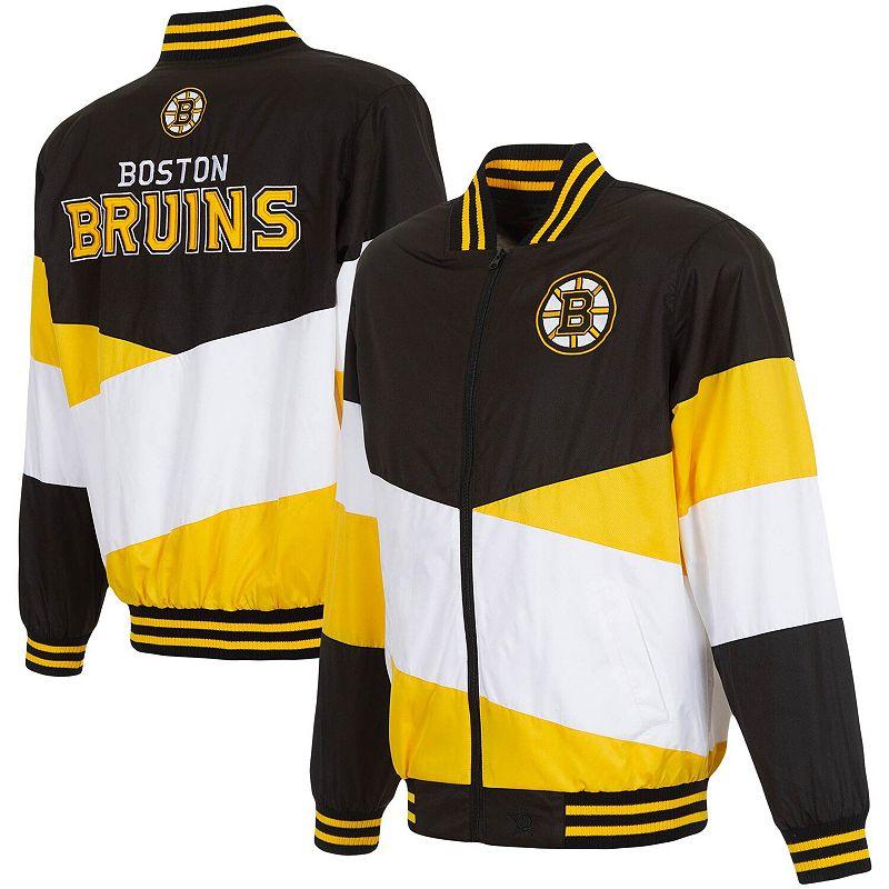 UPC 190641474176 product image for Men's JH Design Black/Gold Boston Bruins Full-Zip Nylon Jacket, Size: Small | upcitemdb.com