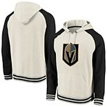 Men's Fanatics Branded Cream/Black Vegas Golden Knights Oatmeal Raglan Pullover Hoodie