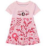 Girls Toddler Wes & Willy Garnet Florida State Seminoles Floral Print Tri-Blend Dress