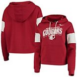 Women's Nike Crimson Washington State Cougars Local Pullover Hoodie