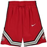 Youth Nike Scarlet Ohio State Buckeyes Holiday Replica Basketball Shorts