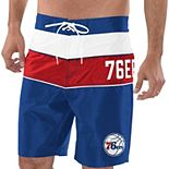 Men's G-III Sports by Carl Banks Royal/Red Philadelphia 76ers All-Star Striped Swim Trunks