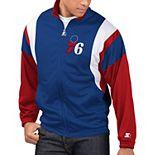 Men's Starter Royal/Red Philadelphia 76ers The Contender Tricot Full-Zip Track Jacket