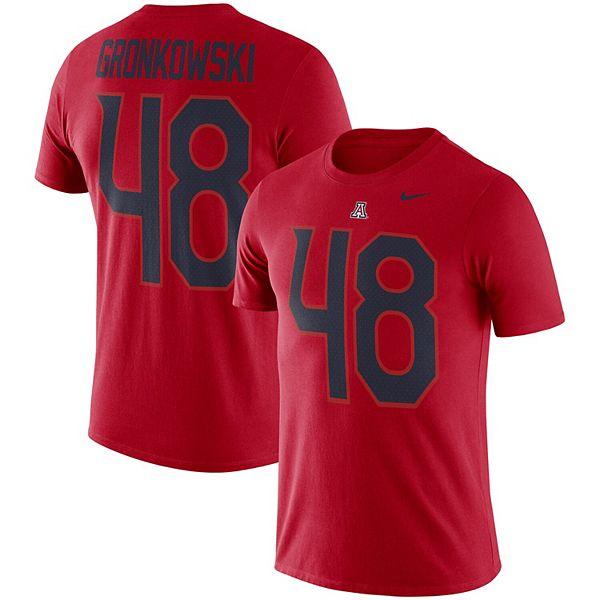 Men's Nike Rob Gronkowski Red Arizona Wildcats Football Name ...