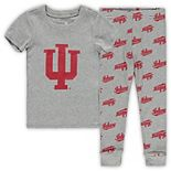 Toddler Heathered Gray Indiana Hoosiers T-Shirt & Pants Sleep Set