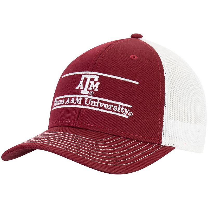 Men's The Game Maroon Texas A&M Aggies Benchmark Trucker Adjustable Snapback Hat, Red