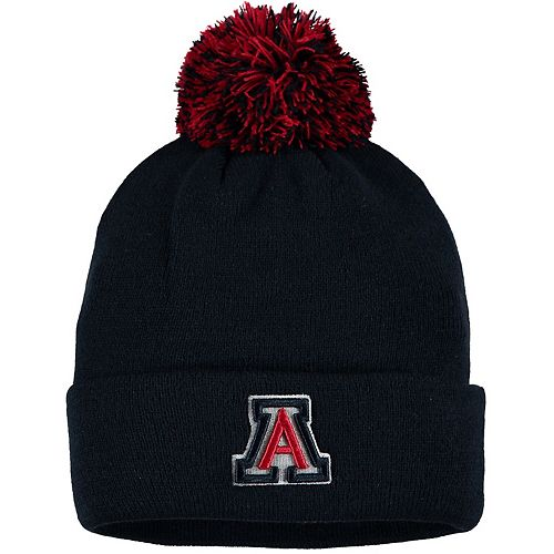 Youth Zephyr Navy Arizona Wildcats Cuffed Pom Knit Hat