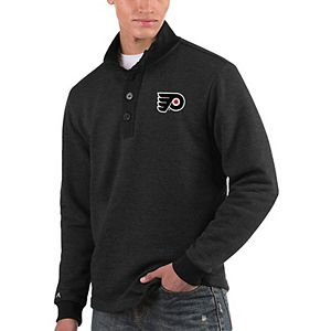 Men's Antigua Black Philadelphia Flyers Pivotal Pullover Sweater