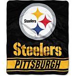 "The Northwest Pittsburgh Steelers 50"" x 60"" Stabilize Raschel Plush Throw Blanket"