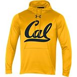 Men's Under Armour Gold Cal Bears Big Logo Pullover Hoodie