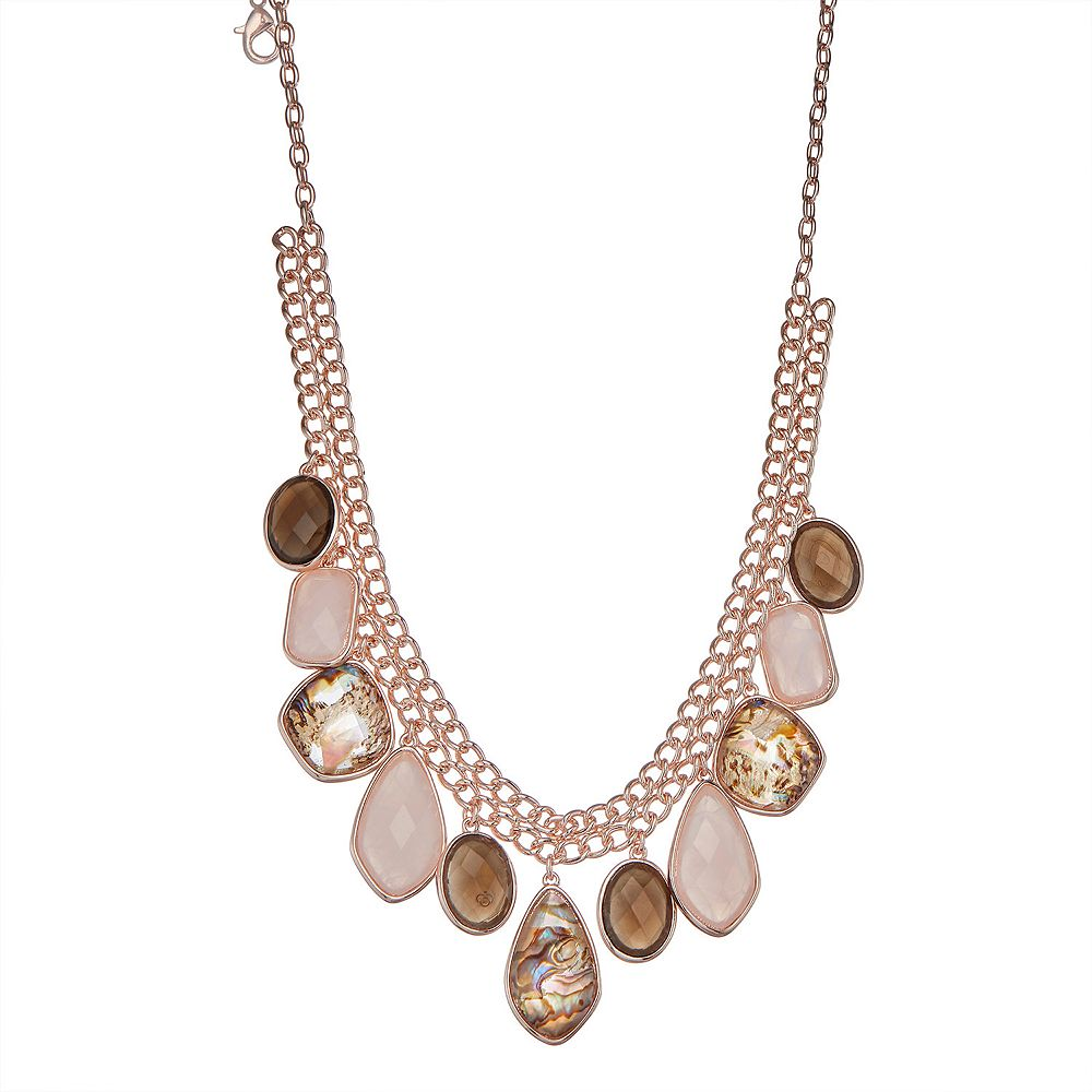 Dana Buchman™ Abalone Drop Frontal Necklace