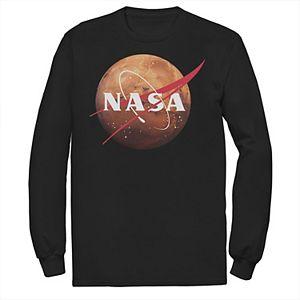 Men's NASA Mars Planet Logo Long Sleeve Graphic Tee