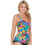 Women's Croft & Barrow® Floral Ruched D-Cup Tankini Top