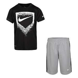 Boys 4-7 Nike Dri-FIT Home Plate Baseball Graphic Tee & Shorts