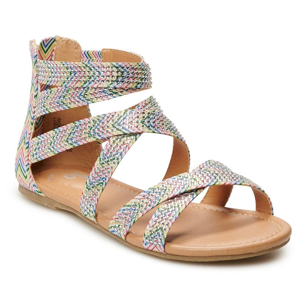 SO® Jaye Girls' Gladiator Sandals