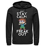 Men's Nickelodeon Rugrats Chuckie Don't Stay Calm Freak Out Graphic Hoodie