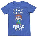 Men's Nickelodeon Rugrats Chuckie Don't Stay Calm Freak Out Graphic Tee