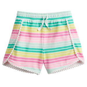 Girls 4-12 Jumping Beans® Pom-Pom Trim Shorts