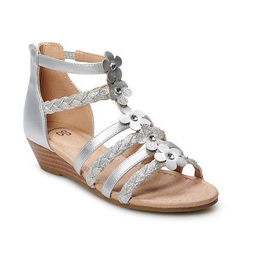 SO® Arlie Girls' Wedge Sandals