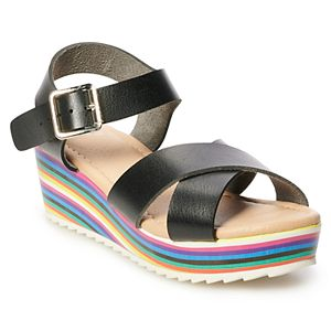 SO® Delsie Girls' Wedge Sandals