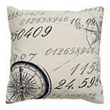 Rizzy Home Compass Map Throw Pillow