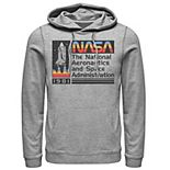 Men's NASA National Aeronautics Striped Logo Graphic Hoodie