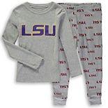 Preschool Gray LSU Tigers Long Sleeve T-Shirt and Pants Sleep Set