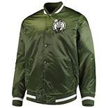 Men's Starter Green Boston Celtics Satin Full-Snap Jacket