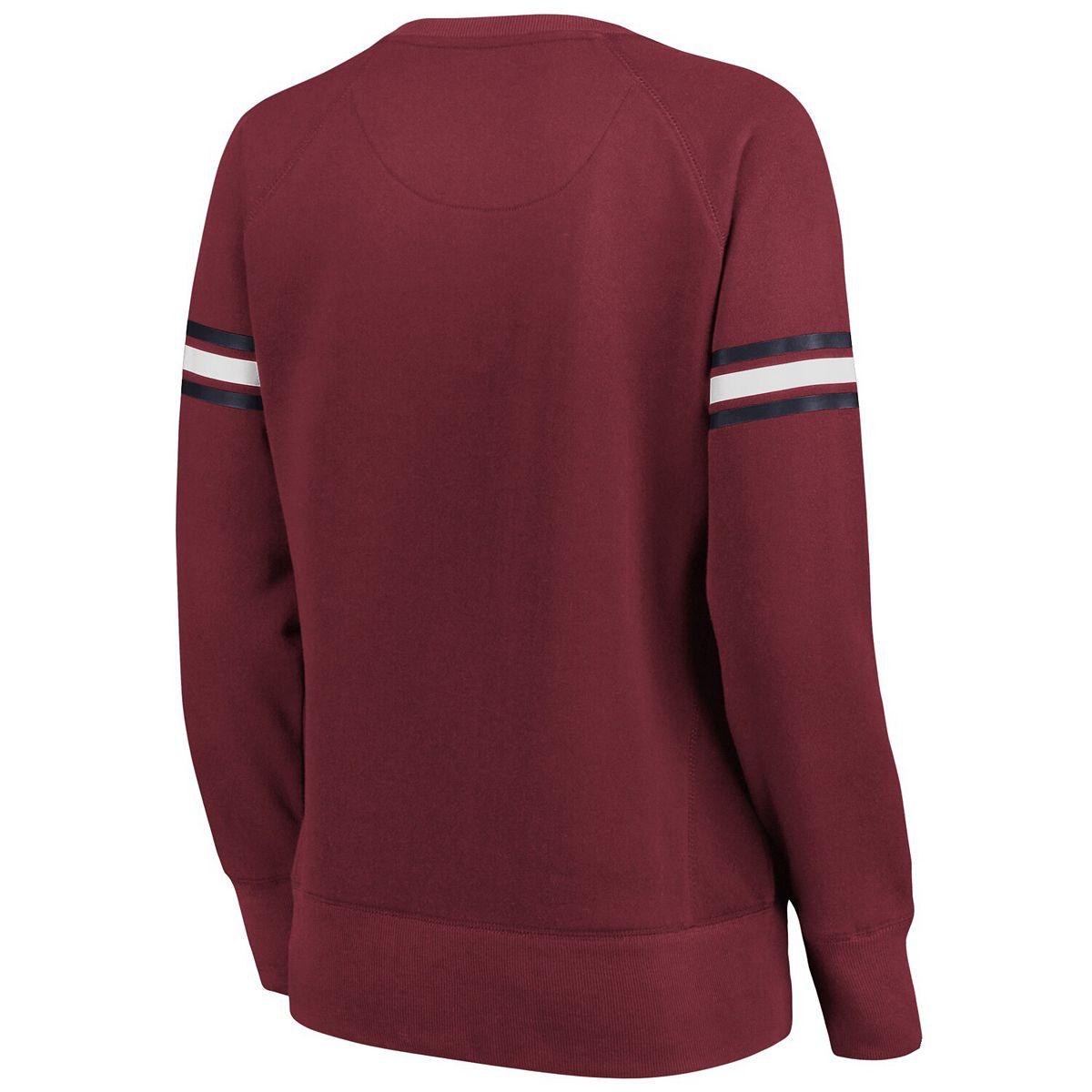 Women's Fanatics Branded Maroon Cleveland Cavaliers Team Arch Raglan Fleece Sweater k5bDU