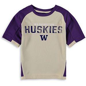 Preschool & Toddler Cream/Purple Washington Huskies Raglan Circuit Breaker T-Shirt