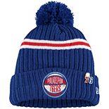 Youth New Era Royal Philadelphia 76ers 2019 NBA Draft Cuffed Knit Hat