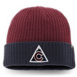 Men's Fanatics Branded Burgundy/Navy Colorado Avalanche Core Alternate Logo Cuffed Knit Hat