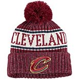 Youth New Era Wine Cleveland Cavaliers Sport Pom Cuffed Knit Hat