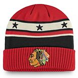 Men's Fanatics Branded Red Chicago Blackhawks Original Six Cuffed Knit Hat
