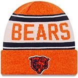 Toddler New Era Orange/White Chicago Bears Stated Cuffed Knit Hat