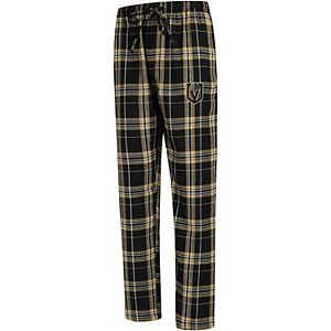 Men's Concepts Sport Black/Gold Vegas Golden Knights Big & Tall Hillstone Pants