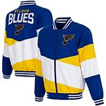 Men's JH Design Blue/Gold St. Louis Blues Full-Zip Nylon Jacket