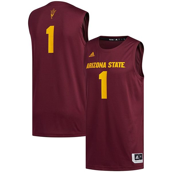 Men's adidas #1 Maroon Arizona State Sun Devils Swingman ...