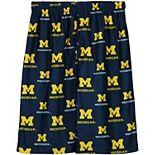Michigan Wolverines Youth Printed Pajama Shorts - Navy Blue
