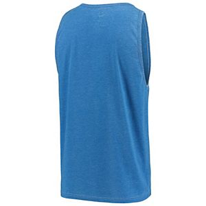 Men's G-III Sports by Carl Banks Heathered Blue New York Knicks Rival Tank Top
