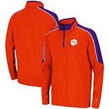 Youth Colosseum Orange Clemson Tigers Bunsen Colorblock Quarter-Zip Pullover Jacket