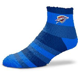 Women's For Bare Feet Oklahoma City Thunder Rainbow Fuzzy Quarter-Length Socks