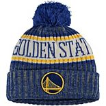 Youth New Era Royal Golden State Warriors Sport Pom Cuffed Knit Hat